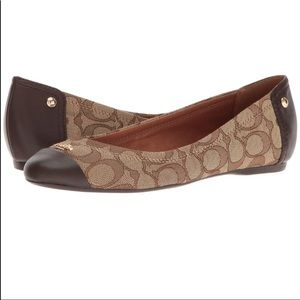 Coach Chelsea brown flats